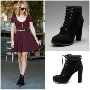 Dolce vita wallie black suede boots 8